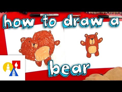 Dead Bear Drawing How to Draw a Cartoon Bear For