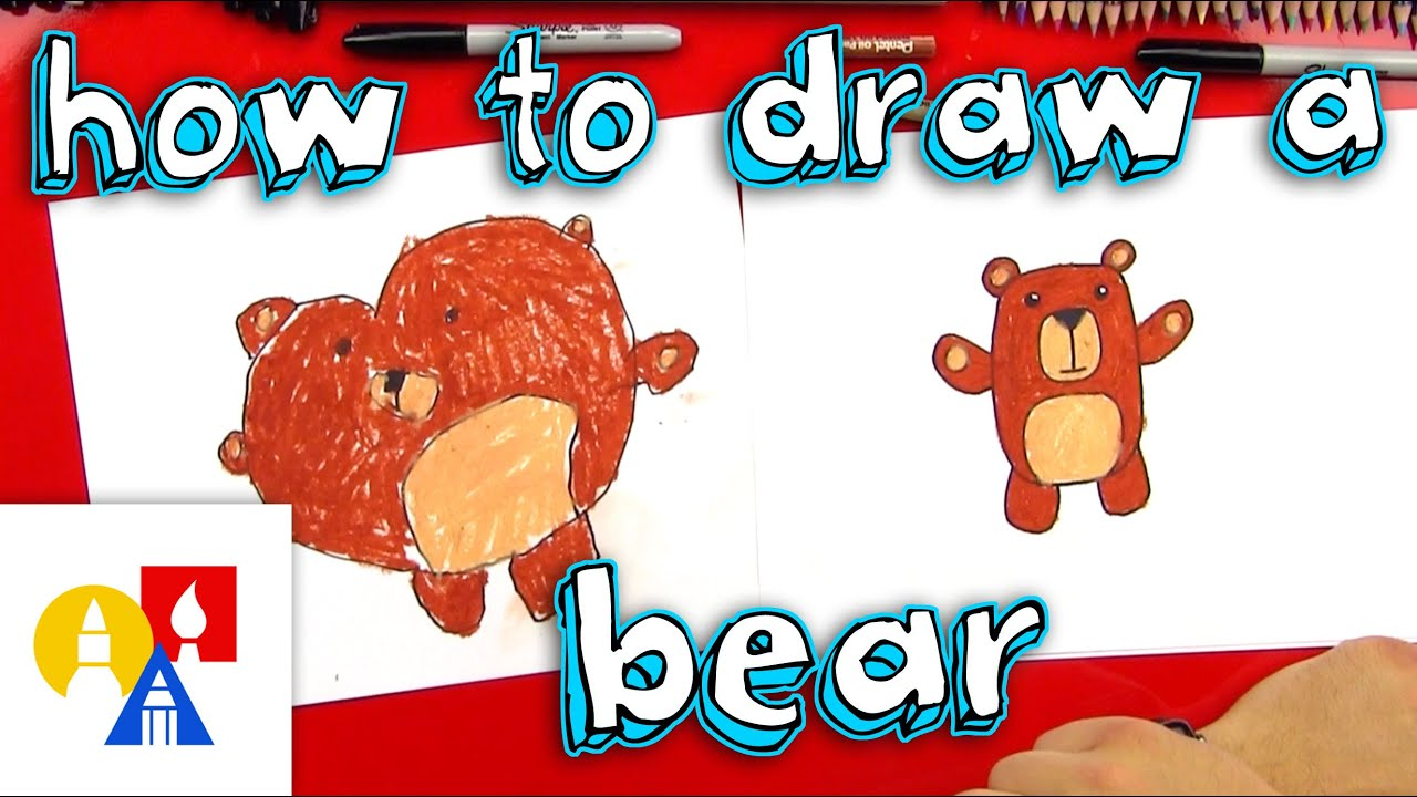 how to draw a cartoon bear for young artists youtube rh youtube com art hub how to draw a christmas tree art hub how to draw a wolf