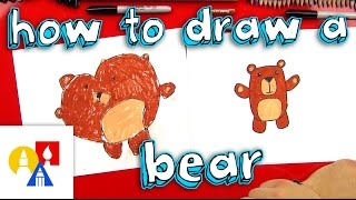 How To Draw A Cartoon Bear For Young Artists