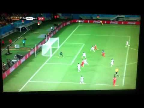 Clint Dempsey goal v Ghana. World Cup 2014