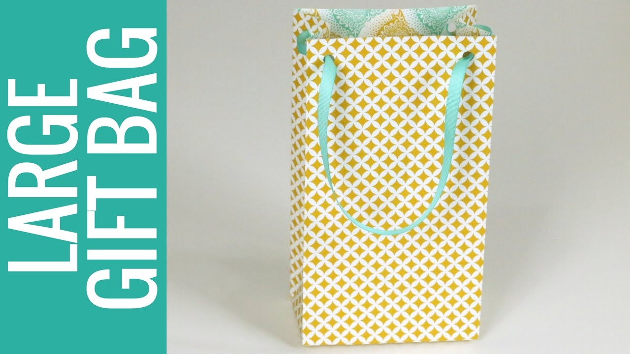 How To Make A Large Size Gift Bag Punch Board