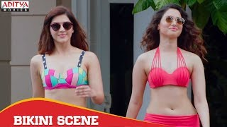 Tamannah Mehreen Swimming pool Scene From F2 Hindi Dubbed Movie | Venkatesh, Varuntej