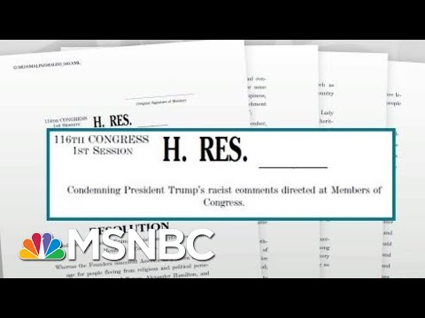 House Passes Resolution Condemning President Donald Trump's Racist Remarks | Rachel Maddow | MSNBC