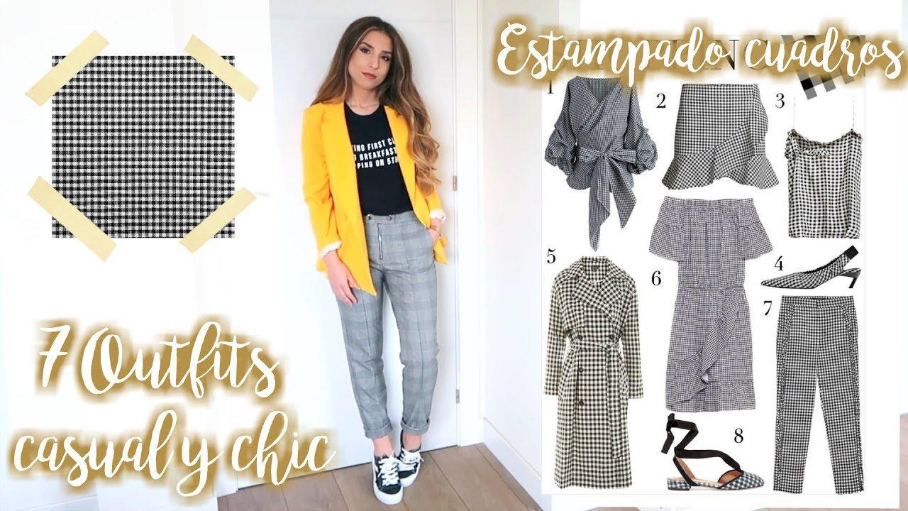 7 Outfits 1 Pantalon Como Combinar Estampado Cuadros Vichy Youtube