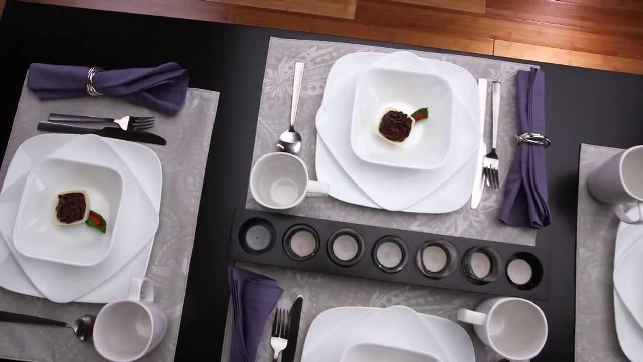 Corelle - Pure White 16 Piece Dinnerware Set - YouTube