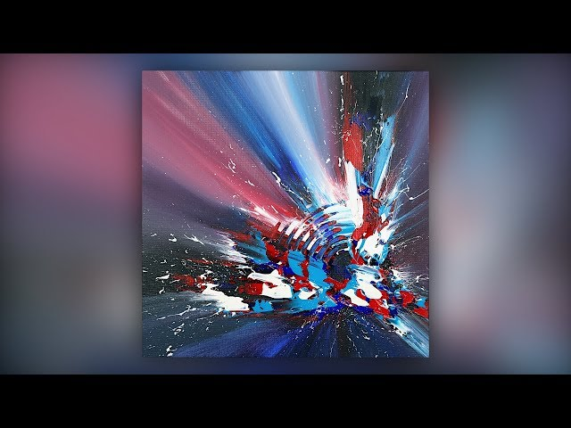 Easy Abstract Painting / Acrylics / Palette Knife / Colorful / Demo #032