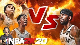 NBA 2K20 JA MORANT vs KYRIE IRVING!! Epic battle