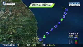 [포항 울릉도 항로정보] 2019년 12월 9일/ 해양…