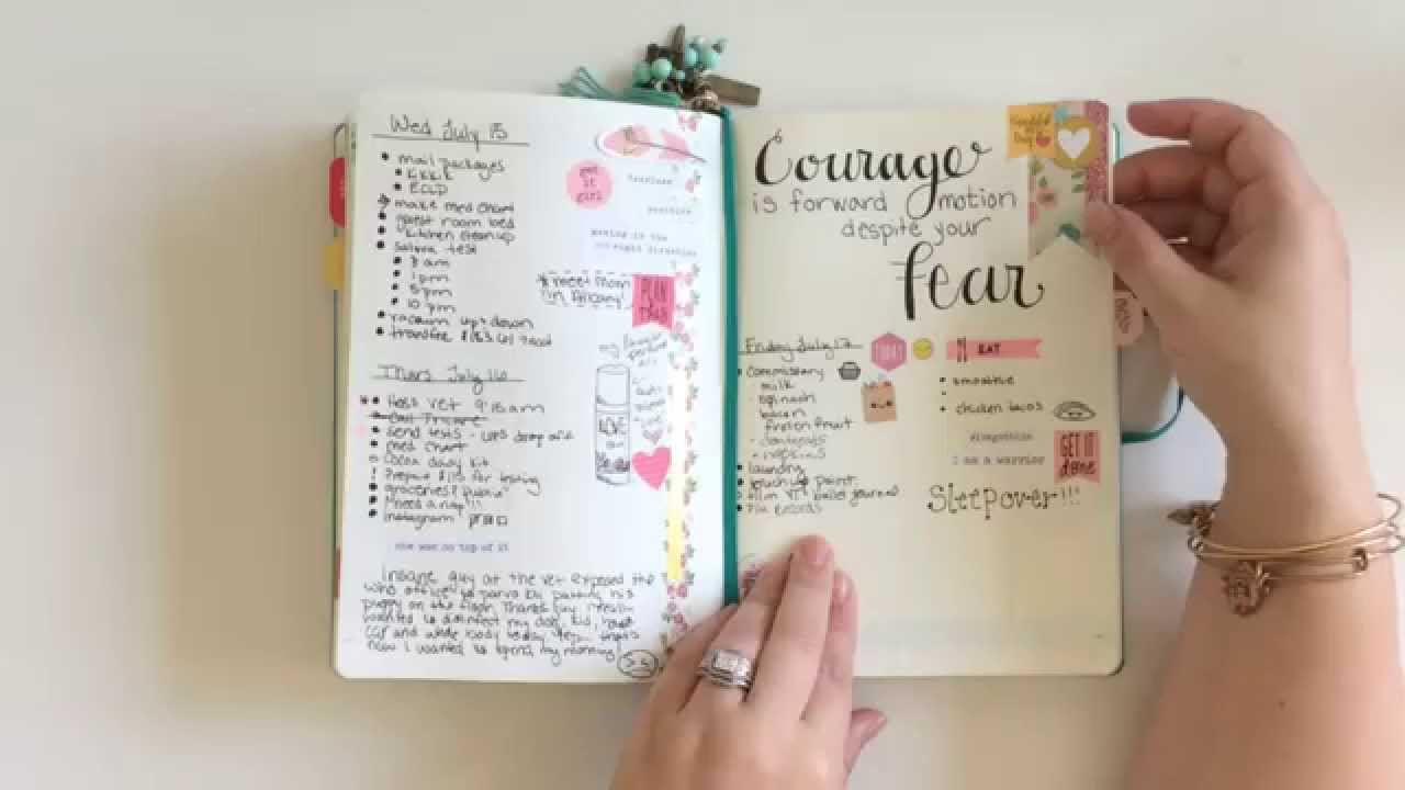 How I Use The Bullet Journal System Youtube