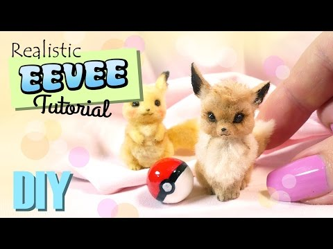 DIY Pet Eevee Tutorial // Miniature Pokemon