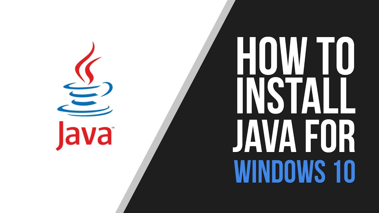 Windows 10 How To Install The Oracle Java (JDK) - YouTube