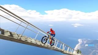 Örümcek Adam Gökyüzüne Bisikletle Çıkmaya Çalışıyor ? (GTA 5 Hikaye Modu)