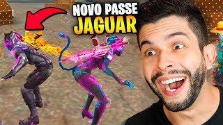 DESUMILDE?!? ZEREI O NOVO PASSE DO JAGUAR NO PRIMEIRO DIA NO FREE FIRE!!!