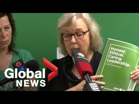 Canada Election: Green Party Leader Elizabeth May Makes Announcement On Platform Costing