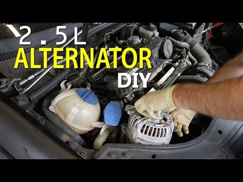 Alternator DIY for VW 2.5L 5 cylinder MK5 Jetta