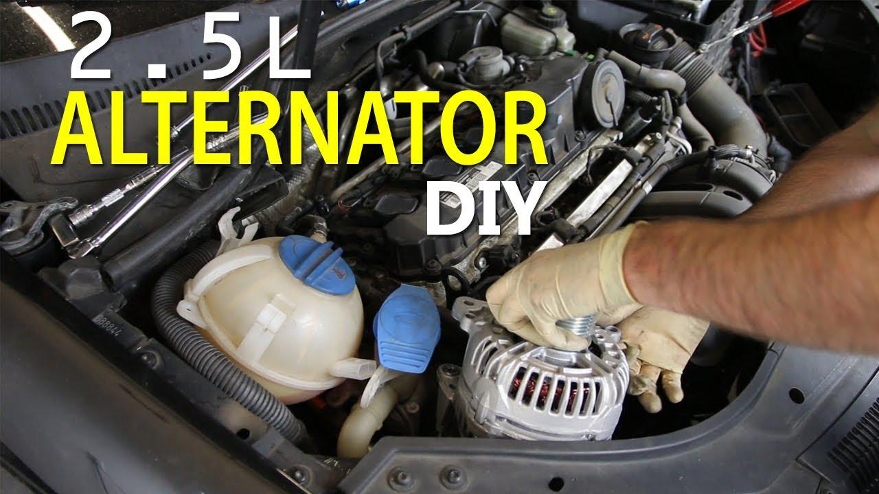 alternator diy for vw 2 5l 5 cylinder mk5 jetta deutsche auto parts [ 1280 x 720 Pixel ]