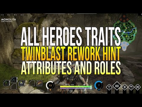 """Paragon A New Way To Look at Heroes & Twinblast Rework Hint! """"ALL HEROES TRAITS, ATTRIBUTES & ROLES"""""""