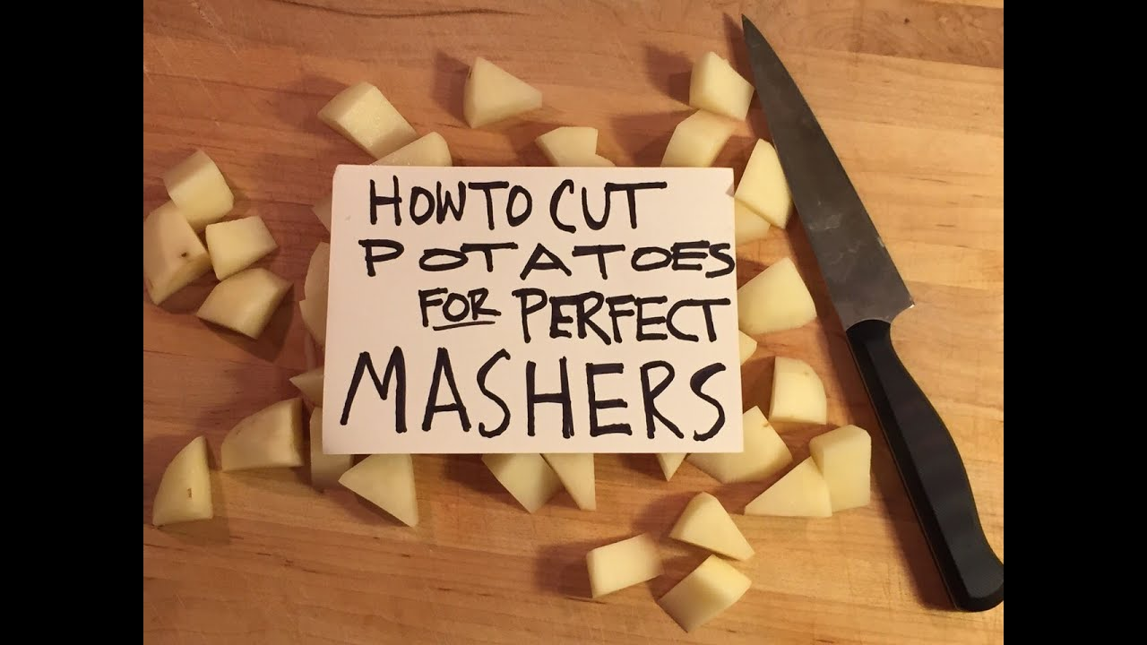 how to best cut potatoes for mashed potatoes alton brown - Alton Brown Christmas Soup