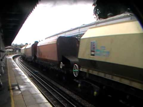 66 021 passes Maidstone West with Brett and ARC wagons