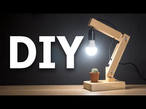 Настольный светильник своими руками