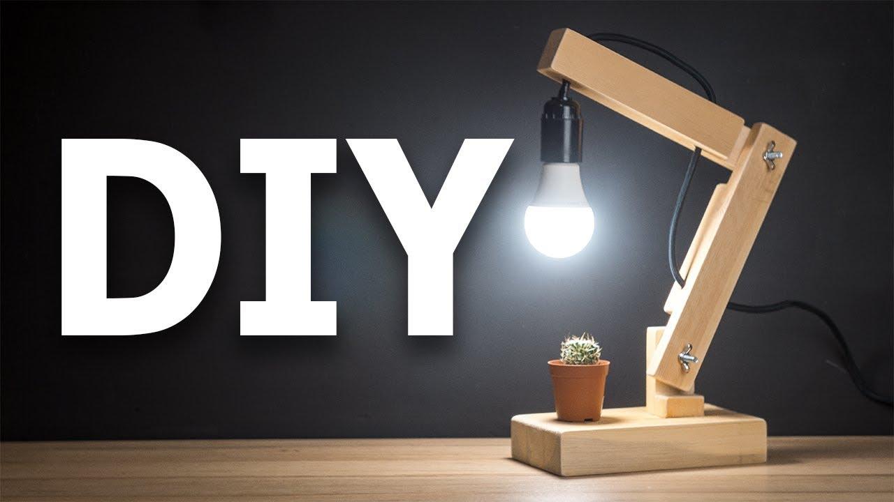 Из чего сделать настольную лампу своими руками фото