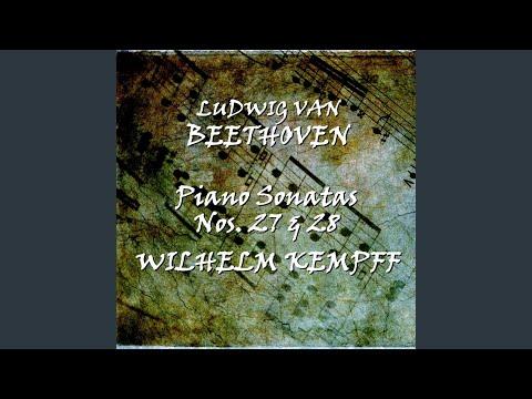 wilhelm kempff piano sonata in a major op 101 no 28 iii adagio ma non troppo con affetto attacca beethoven