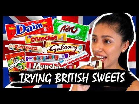 AMERICAN TRIES BRITISH CANDY (Sweets)!