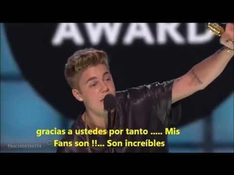 Justin Bieber en Premios Billboards 2013 HD (Traduccion al Español)