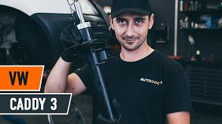 Hvordan bytte fremre fjærbein der på VW CADDY 3 Van [AUTODOC-VIDEOLEKSJONER]