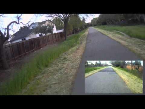 PIP Test ContourHD front  GoPro rear Iron Horse Trail  Part 5 Danville to San Ramon