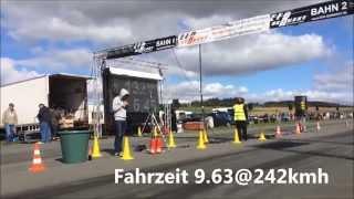 Audi 80 Quattro 1/4 meile 9.63@242kmh Brilon EFR 26/27 Sep 15