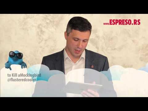 #EspresoTviter: Boško Obradović čita tvitove o sebi