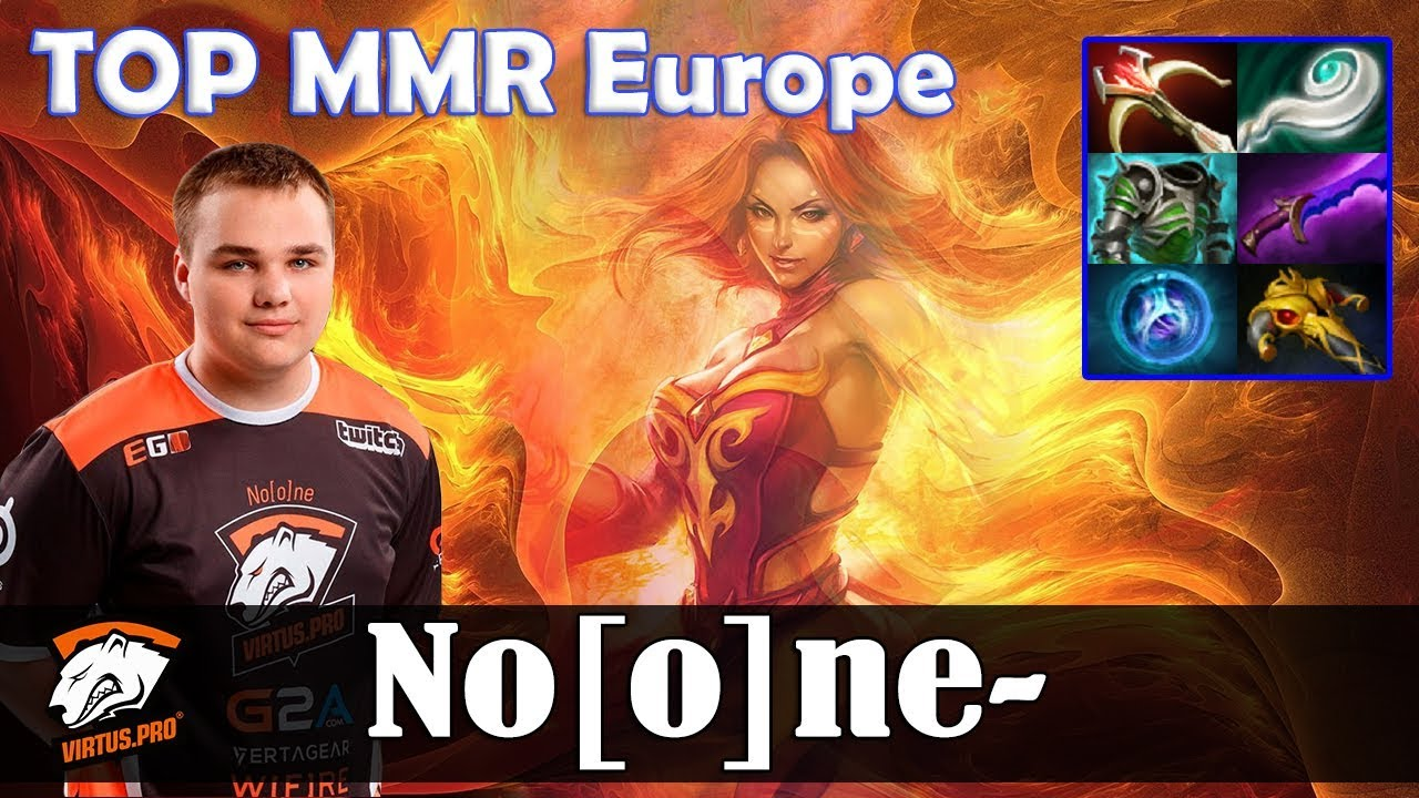 Noone Lina Mid Top Mmr Europe Dota  Pro Mmr Gameplay