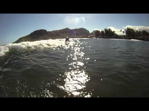 John Buchan surfing