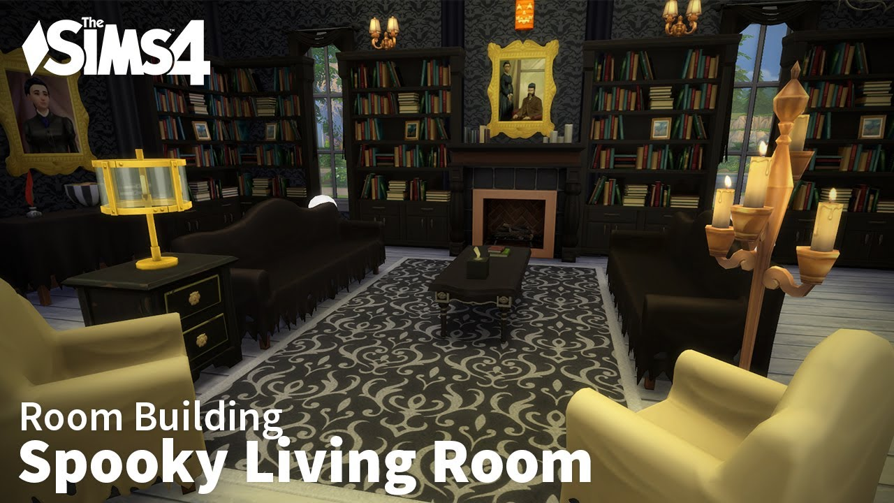 Spooky Living Room  The Sims 4 Room Building  YouTube
