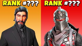 Ranking aller MAX LEVEL Skins in Fortnite (WORST to BEST) | chaos