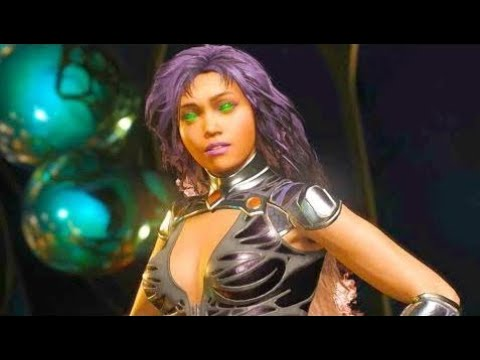Injustice 2 PC - All Super Moves on Starfire Blackfire Costume 4K Ultra HD Gameplay