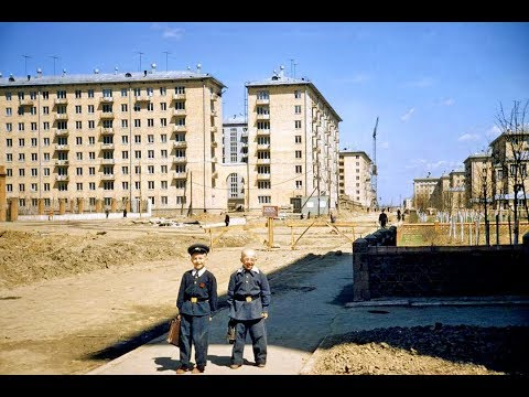 Ленинский проспект ретро 50-70 х годов. Дом, в котором я живу