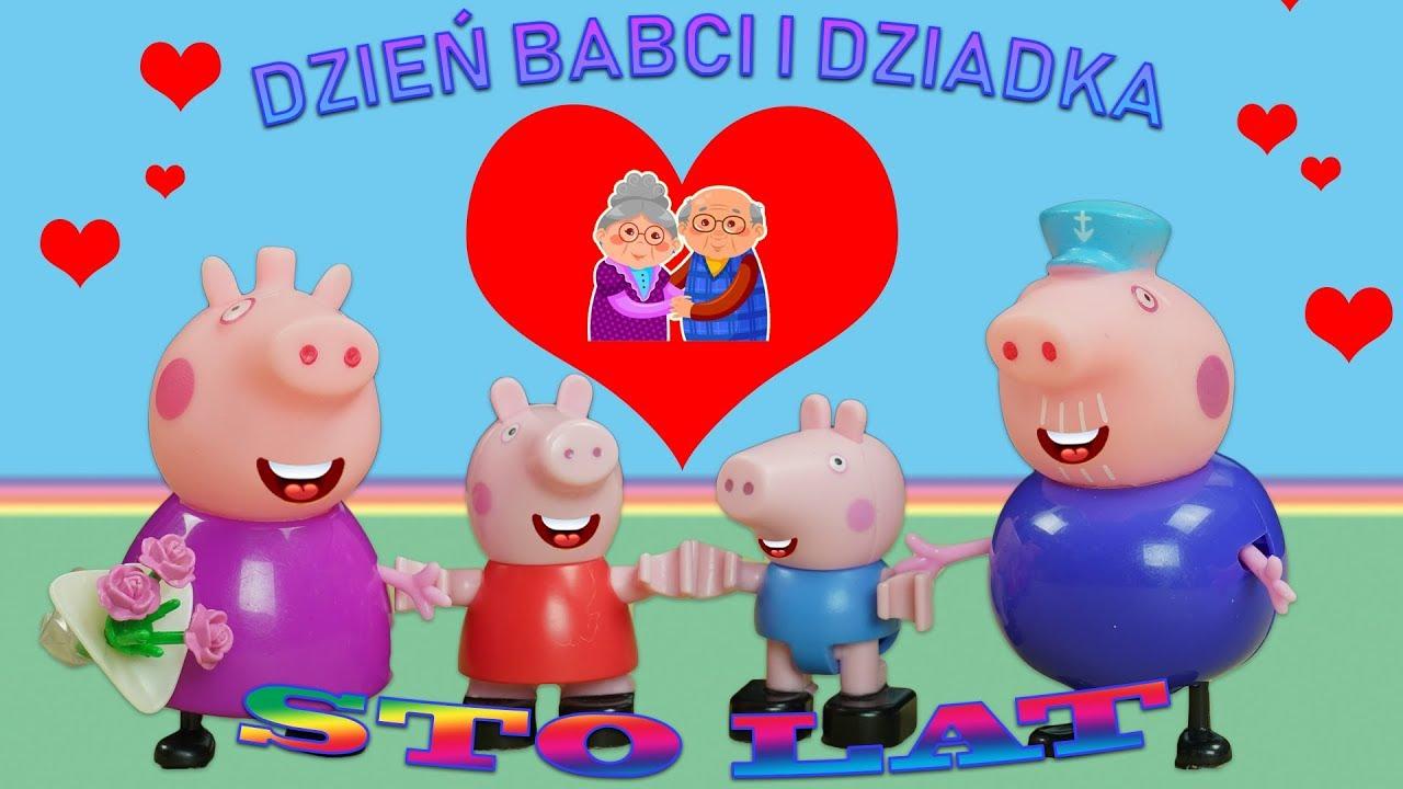 faf8b6cc594c01 Bajka Świnka Peppa po polsku Dzień Babci i Dziadka Świnka - YouTube