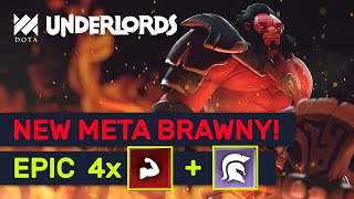 NEW META BRAWNY! ★★★ Brawny Demon Hunter Champion! | Dota Underlords