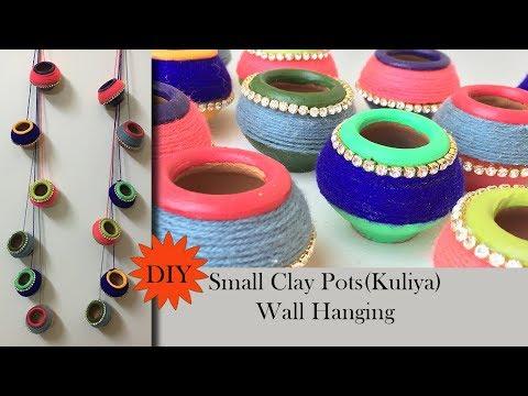 DIY Clay Pot Decoration | Kuliya wall hanging | Matki decoration|Terracotta Pot Decoration
