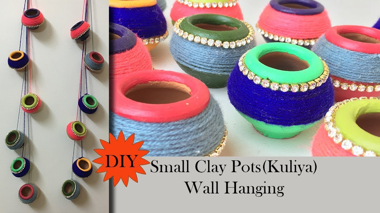 DIY Clay Pot Decoration | Kuliya wall hanging | Matki decoration|Terracotta  Pot Decoration