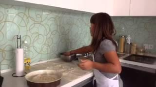 Kali is baking banitsa