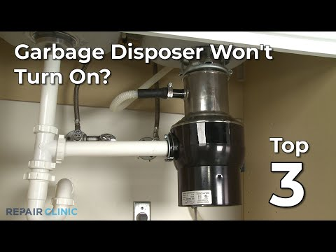 "Thumbnail for video ""Garbage Disposer Won't Turn On? Garbage Disposer Troubleshooting """