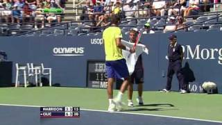 US Open 2011   Men's Singles   1st Round   Harrison vs Cilic Part 7