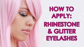 How to Apply Rhinestone/Glitter Eyelashes for Dancers & New Year