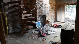 UNKNOWN CRIME SCENE in ABANDONED Log Cabin MANSION