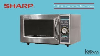 Sharp 1000W Commercial MIcrowave (279-R21LCFS)