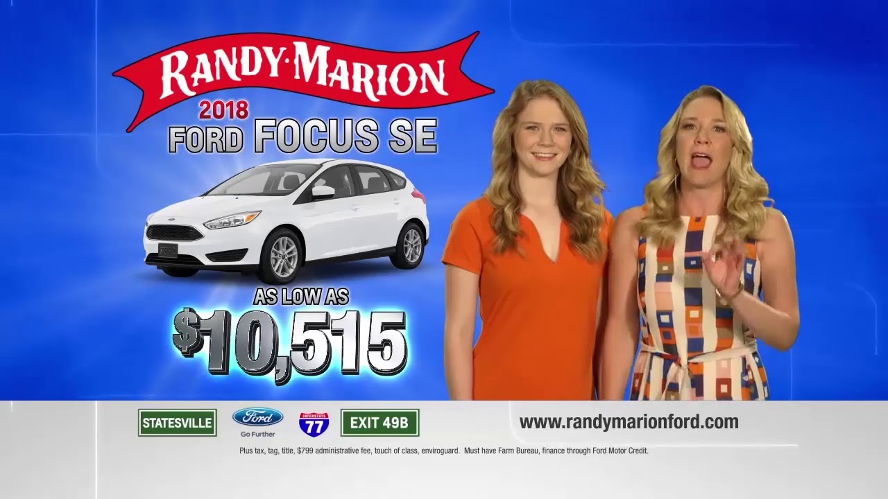 Randy Marion Fall Special 2018 Ford Focus Se Youtube