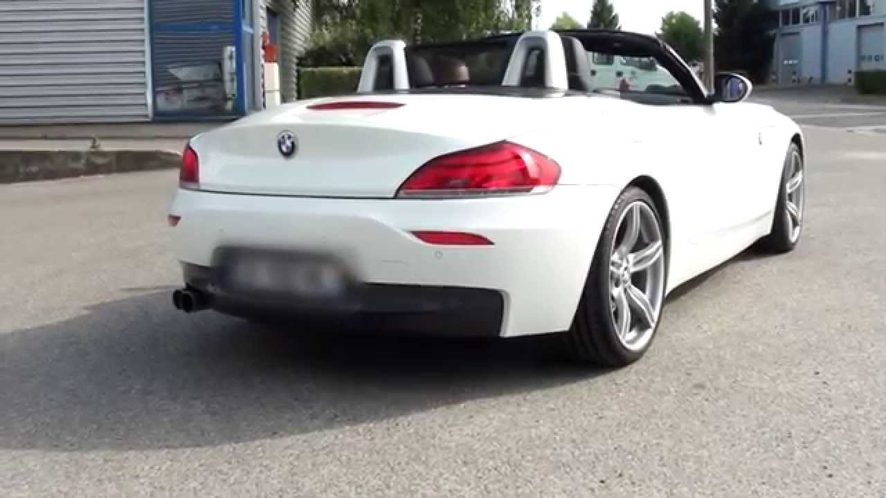 BMW Performance Exhaust >> BMW Z4 (E89) Sdrive 23i/30i - 2x76mm - Eisenmann Exhaust Race - YouTube